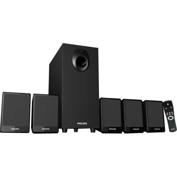 Philips DSP 2800 5 1 Channel Multimedia Speakers