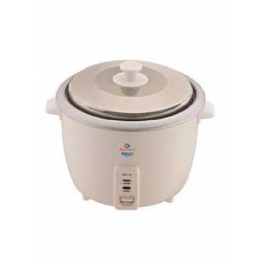Bajaj RCX-18 1.8 Litre Electric Cooker - White | Steel | Red