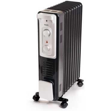 Glen 7015 9 Fins 2400W Oil Filled Radiator Room Heater - Black