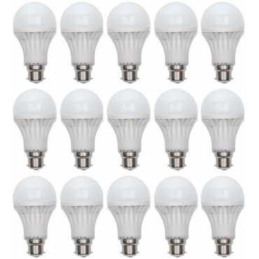 Digilight 3W Plastic Body White LED Bulb (Pack Of 15) - White