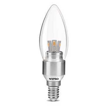 Wipro Garnet N30002 3W LED Candle Bulb (Warm White) - White