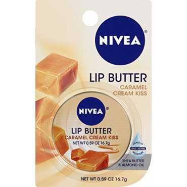 Nivea Lip Butter Lip Balm Carded Tin (Caramel Cream Kiss)