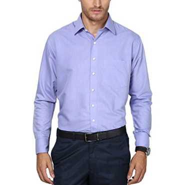 LONDON Men's Formal Shirt (PR005slimz--40, Blue, 40)