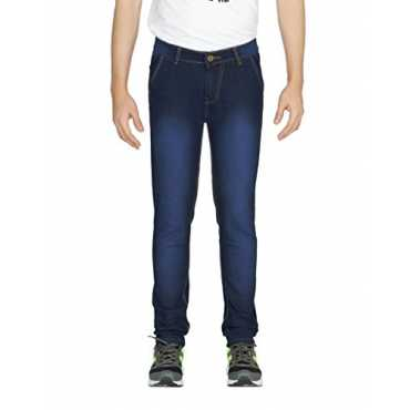 Yo Republic Slim Men's Dark Blue Shaded Jeans (AT-0483-1 28S)