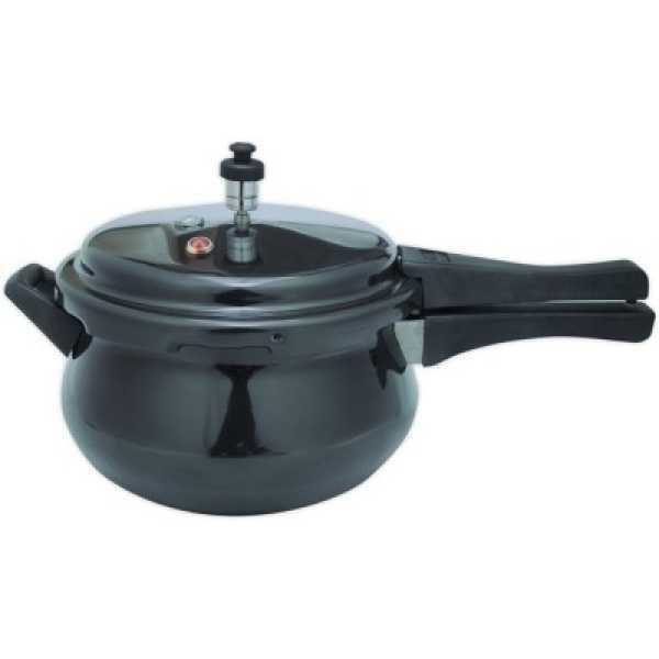 Wonderchef 60017000 Handi Aluminium 5.5 L Pressure Cooker (Induction Bottom,Outer Lid) - Black