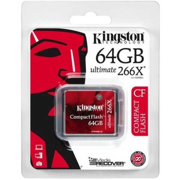 Kingston CF/64GB-U2 Compact Flash 64GB Ultimate 266x Memory Card
