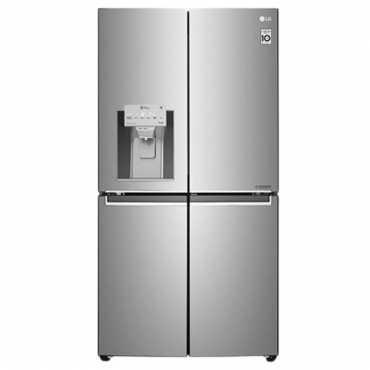 LG GR-J31FTUHL 889 L 3 Star Inverter Frost Free Side By Side Door Refrigerator - Silver