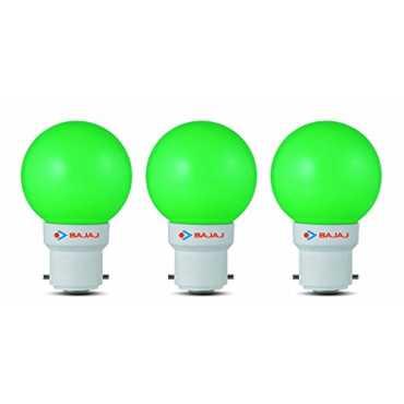 Bajaj Ping Pong B22 0 5W LED Bulb Green Pack of 3