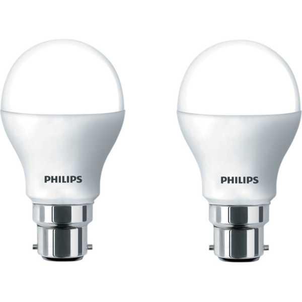 Philips  4W B22 LED Bulb (Warm White, Pack of 2) - Yellow | White