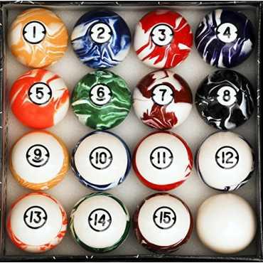 Iszy Billiards Classic Marble Style Billiard Ball Set