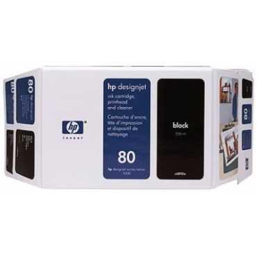 HP 80 350 Ml Black Ink Cartridge - Black
