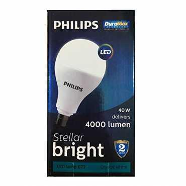 Philips Stellar Bright 40W B22 4000L Round LED Bulb White