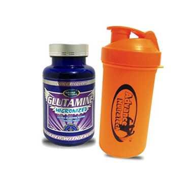 Advance Nutratech Glutamine Unflavoured Supplement (100 Gm) & Shaker (600 ml)
