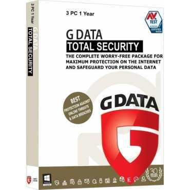 G Data Total Security 3 PC 1 Year Antivirus