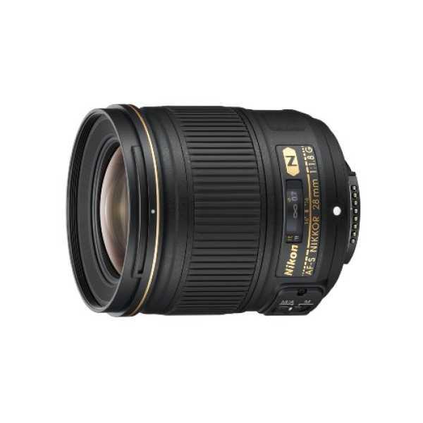 Nikon 2203 28mm f/1.8G AF-S Nikkor Lens - Black