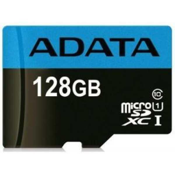 AData AUSDX128GUICL10 85-RA1 128GB Class 10 MicroSDXC Memory Card