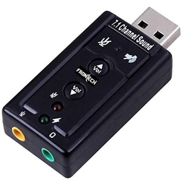 Frontech Jil-0829 USB Sound Card - Black