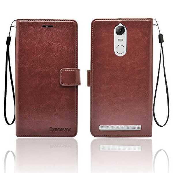 Lenovo Vibe K5 Note Premium Leather Case Inner TPU Wallet Stand Flip Cover