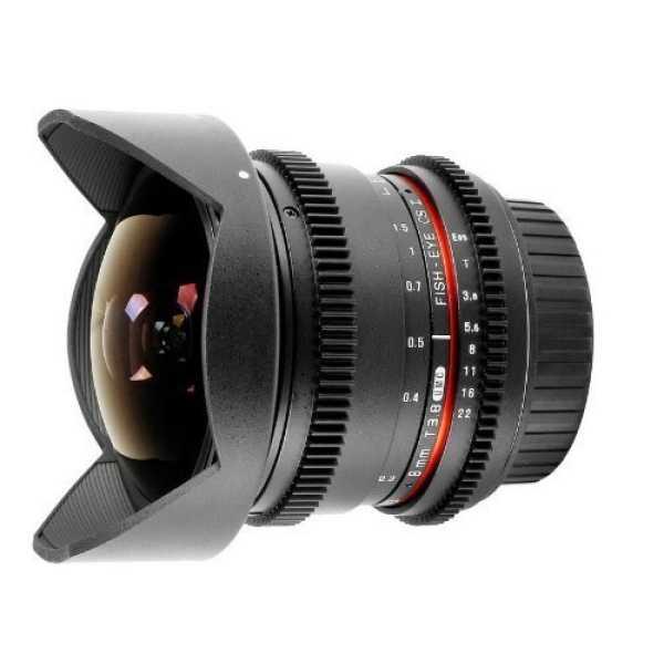 Samyang 8mm T3 8 Fisheye IF MC VDSLR CS II DH Lens For Canon