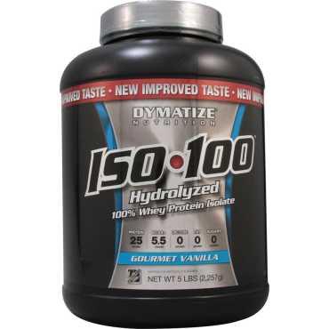 Dymatize Iso 100 Hydrolyzed Whey Protien (5 Lbs,Gourment Vanilla)