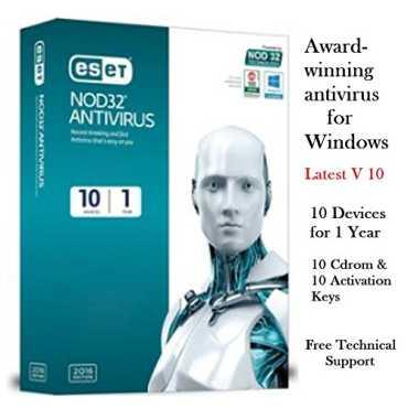 Eset NOD32 Antivirus Version 10 10 PC 1 Year Antivirus