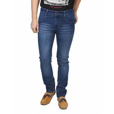 Trendy Trotters Men's Regular Fit Stretchable Jeans (Ttj1Wl-D34_Dark Blue_34)