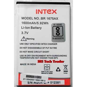 Intex BR-1675AX 1600mAh Battery (For Intex Aqua Q1 ) - White