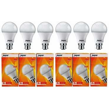 Jaquar 9W Prima B22 LED Bulb (White, Pack of 6) - White