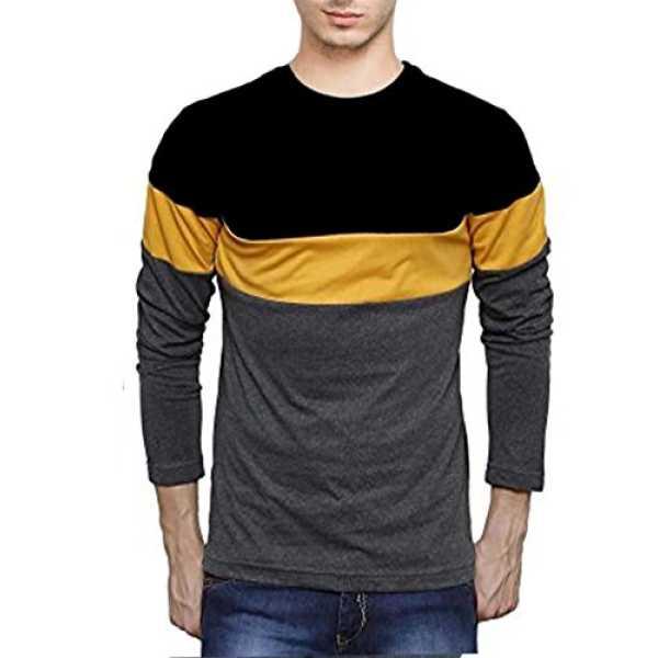 Veirdo Men's Cotton T-Shirt (B0711Kssxv_Black_Medium)