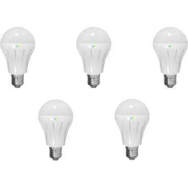 Finike  5W E27 LED Bulb (White, Pack of 5) - White
