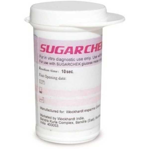 Wockhardt Sugar Chek Glucometer Strips (50 Strips)