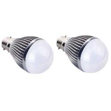 IPP 7W B22 Aluminium Body White LED Bulb (Pack of 2) - White