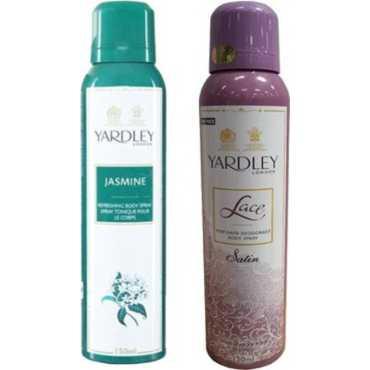 Yardley Jasmine and Lace Satin Combo Set of 2