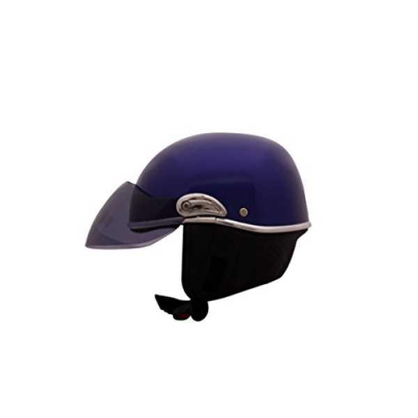 Autofurnish JR-614 Smart Rider Pillion Unisex Helmet Jupiter with Smoke Black Glass (Large) - Black