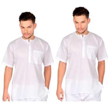 Sadra (Pehran)-White Cotton Cambric - Pack Of 2 Pcs