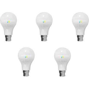 Finike  4W B22 LED Bulb (White, Pack of 5) - White