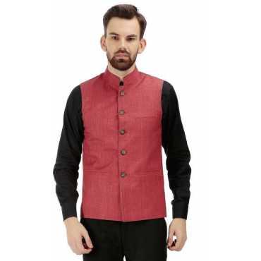 Self Design Men Waistcoat