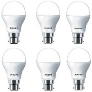 Philips 7W White LED Bulbs (Pack Of 6) - White