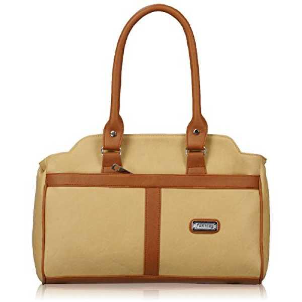 Women s Handbag Beige And Tan FNB-346