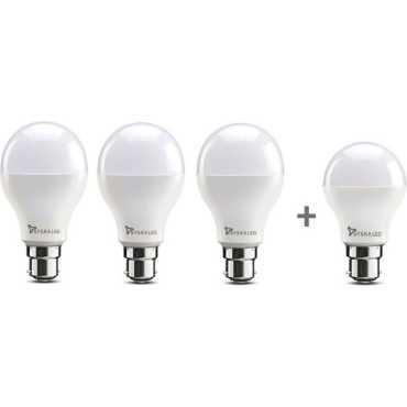 Syska 9W B22 LED Bulb White Pack Of 4 1 Free 7W Bulb