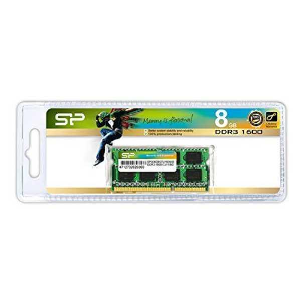 Silicon Power (SP008GBSTU160N02) 8GB DDR3 Laptop Ram