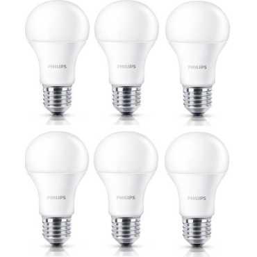 Philips Stellar Bright 12W Standard E27 1200L LED Bulb White Pack of 6