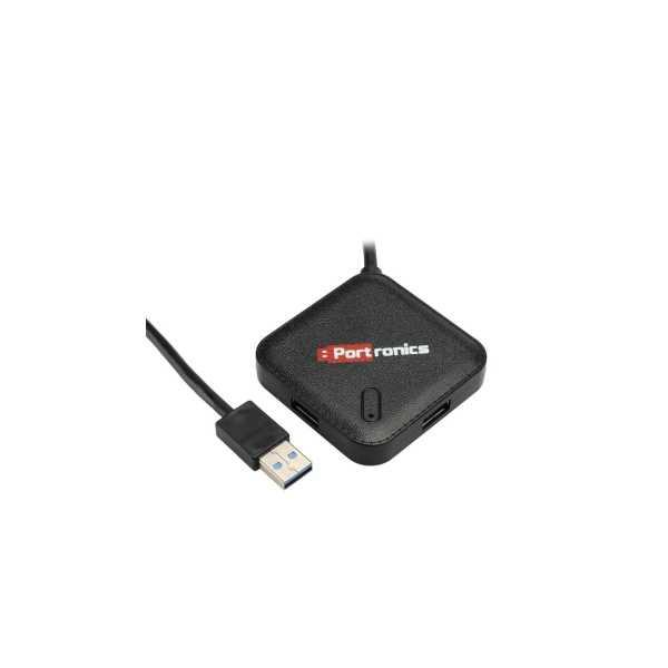 Portronics POR-697 4 Port USB Hub - Black