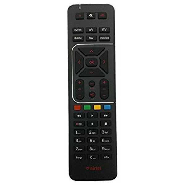 Airtel Digital TV DTH Remote Controller - Black