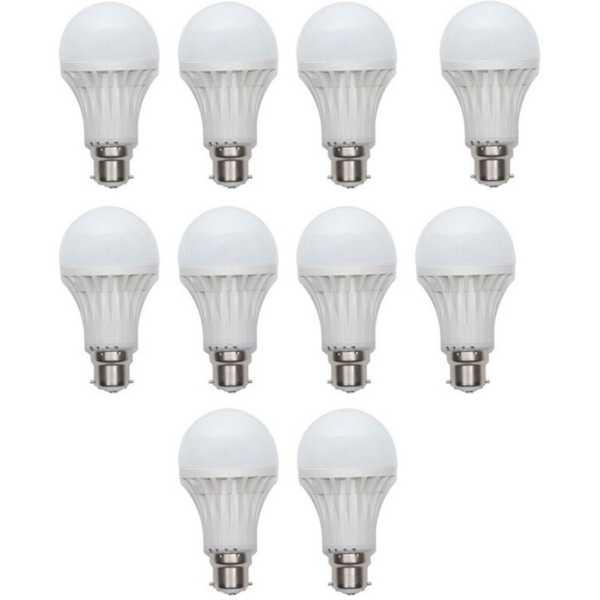 X-Cross 5W B22 LED Bulb (White, Set of 10)