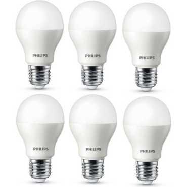 Philips 7W Standard E27 625L LED Bulb (White,Pack of 6) - White