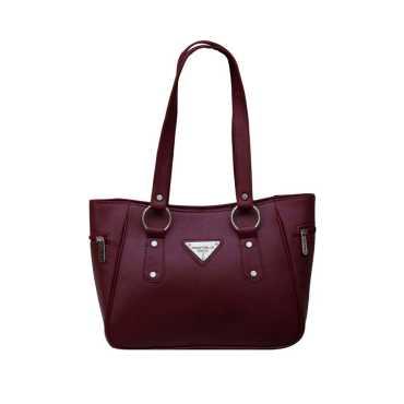 Maroon Polyurethane Pu Handbag