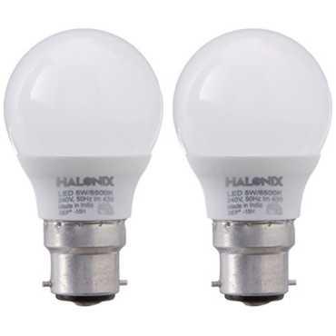 Halonix 5W B22 430L LED Bulb White Pack Of 2