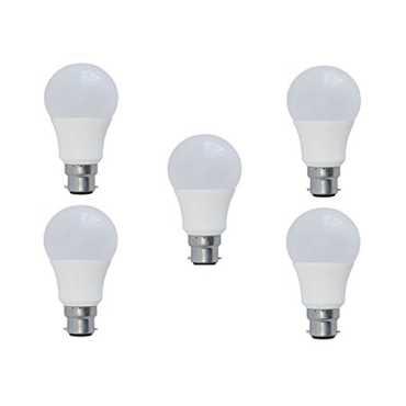Syska 9W PA LED Bulbs (White, Pack of 5) - White