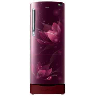 Samsung RR24N287YR8/NL 230 L 4 Star Inverter Direct Cool Single Door Refrigerator (Blooming Saffron) - Blue | Red